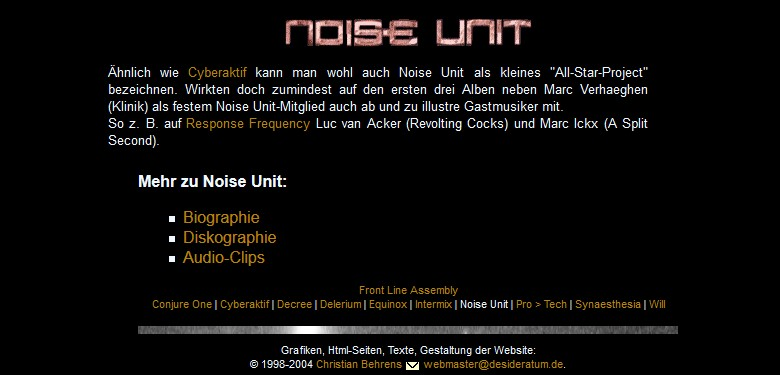 Screenshot: Noise Unit (2004)